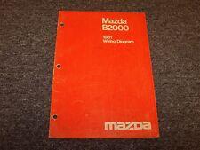1981 Mazda B2000 Pickup Truck Factory Original Electrical Wiring Diagram Manual