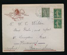 FRANCE 1918 ILLUSTRATED ADVERT ENVELOPE HORSE + PLOUGH...LESTANDART + RENIER