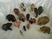 Lote Figuras Elefantes Varios Materiales