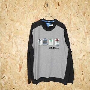 ADIDAS ORIGINALS Big Logo Sweatshirt Grey | XL