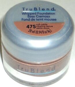 1 ORIGINAL COVERGIRL TRUBLEND WHIPPED FOUNDATION 475 SOFT SABLE FREE SHIPPING US