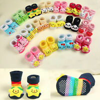 Baby Girls Boys Anti-slip Socks Cartoon Newborn Slipper Shoes Boots 0-18 Months