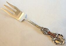 "PAT. 1890 HEAVY STERLING SILVER SERVING FORK, SHIEBLER ""LOUVRE"", MONO ""C"""