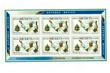 MEXICO 1992 POPE John Paul - Sheet of 6 Stamps - MNH