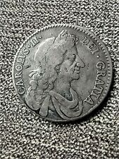 More details for 1679 king charles ii silver half crown