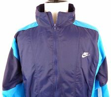 Vintage Nike Large Windbreaker Bike Jacket 90's Retro 2 Different Blues White