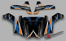 POLARIS RZR 800 UTV SIDE x SIDE Graphics Decal Kit 2011 - 2013 Orange Madness