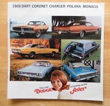 DODGE Dart Charger Coronet Polara MONACO ORIG 1969 grande formato USA Mkt opuscolo