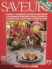 SAVEURS N° 11 - Paris, les restaurants 1900 - Avril-mai 1991