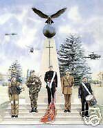 Army Air Corps (5 figures, memorial,  Print for Framing