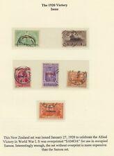 Samoa, 1920  New Zealand Victory Set  overprinted complete used , superb