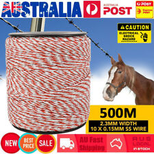 500m Polywire for Electric Fence Energiser Fencing Kit Stainless Steel Poly Wire