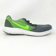 Nike Mens Revolution 3 819300-005 Grey Green Running Shoes Lace Up Size 7.5