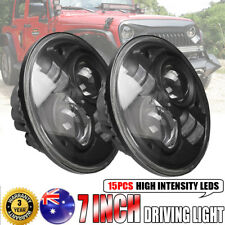 2x 7inch 200W CREE H4 Hi-Lo BEAM LED Driving Headlight Offroad For Jeep Wrangler