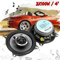 """2x 200Watts 4"""" Inch 10cm Dual Cone Car Van Truck Door Shelf Dash Speakers Audio"""
