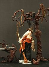 Witch with Mandrake Baby Harry Potter Scrying Basin and Whomping Willow OOAK