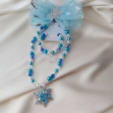 3Pcs Kids Girls Frozen Necklace Bracelet Set Gift
