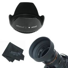RISE(UK) 55MM Petal Flower & Collapsible Rubber Lens Hood for Sony 18-55mm