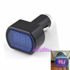 LED Display Cigarette Lighter Electric Voltage Meter Tester For Auto Car Battery