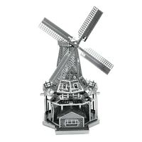 Metal Earth Windmill 3D Laser Cut Metal DIY Model Hobby Construction Kit