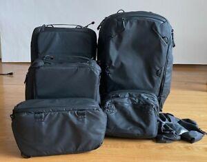 Peak Design 45L Travel Backpack Bundle w/ Complete Cube Pouch Set