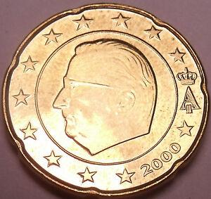 Unc Belgium 2000 20 Euro cents~Minted In Brussels~New Millenium