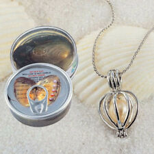 Fashion helix pendant Natural Oyster Cage Wish Love Pearl Necklace Jewelry gift