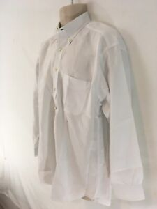 Tommy Hilfiger TLC Lifetime Collar Mens 16 33 White 2 Ply Pinpoint Dress Shirt