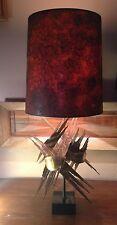 MID CENTURY MODERN BRUTALIST LAMP CIRCA 1960' 1970'S CURTIS JERE, TOM GREENE