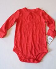 OshKosh Red Knit One-Piece Bodysuit Infant Baby Boy Size...