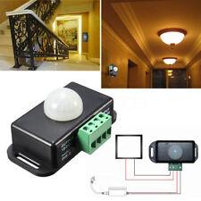 Automatic DC 12V-24V 8A Infrared PIR Motion Sensor Switch For LED Lamp Stylish E
