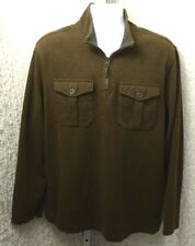 Dockers Mens Corduroy 1/4 Zip Jacket with Pockets Size XL Brown Cotton Blend