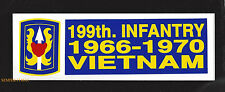 199TH INFANTRY BRIGADE VIETNAM BUMPER STICKER MADE IN THE US ARMY PIN UP VETERAN