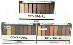 (3) Covergirl Trunaked Eye Shadow Palette No Seals Roses Peach Punch Chocoholic