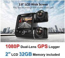 Dual Lens 2CH Wide Angle Dash Cam 1080P 2