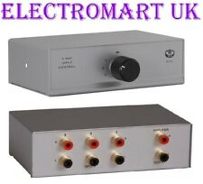 3 WAY PHONO RCA STEREO AUDIO INPUT SELECTOR SWITCH BOX