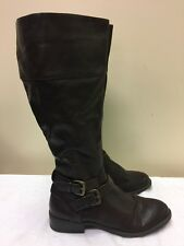 "Nine West Brown ""Leorawm"" brown Round Toe Size 7.5 M Knee High Riding Boots"