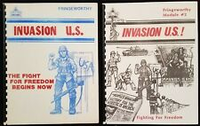 Tri Tac Games RPG Book Lot - Invasion US & U.S.! - Fringeworthy / Module #2