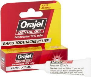 Acute Rapid Dental Pain Relief Benzocaine Gel 5.3 g for 12  YO Children 1 Pack