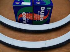 (2) 26 x 1 3/8 Bicycle White Wall Tires + (2) Inner Tubes Bicycle NEW**