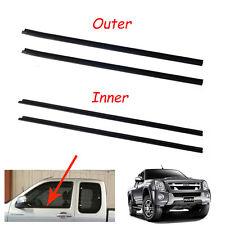 Door Belt WeatherStrip Rubber Seal Pair Fit Isuzu D-Max Single Cab Pickup 06-12