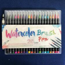 20Pcs Calligraphy Pen Soft Brush Marker Watercolor Pen Cartoon Sketch Drawing