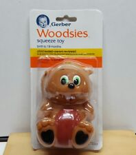 """New listing Vintage 1987 Gerber Woodsies 4"""" Baby Soft Vinyl Squeeze Toy - Birth to 18 Months"""