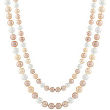 """7½-8mm natural multicolor freshwater pearl necklace, 40"""" endless FGE-69"""