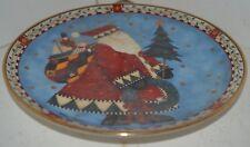 Vintage Royal Doulton Christmas Deliveries Santa Plate Franklin Mint