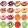 Donut Frucht Kissen Schoko Stuhlkissen Lounge Dekokissen Sitzkissen Stuhlauflage