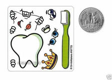15 Make a Tooth Teeth Stickers Dental Dentist Office Patient Kid Reward Supply