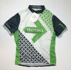 Primal Men's White/ Green Size X-Large Pelotonia 2013 Cycling Sport Jersey NEW
