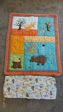 Kidsline Nursery Crib Bedding Forest Animals Quilt 43 x 35 Crib Sheet Zutano Inc