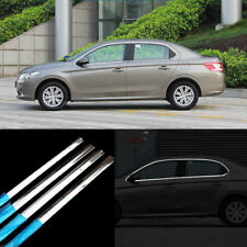 10pcs New Stainless Steel Full Window Frame Sill Molding Trim For Peugeot 301